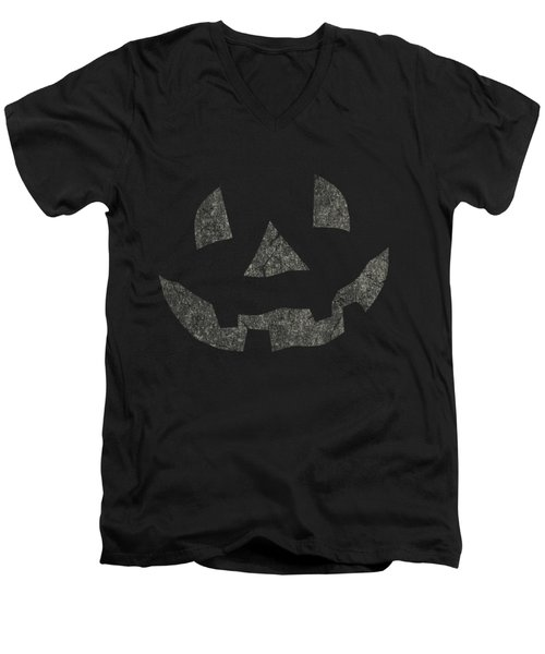 Vintage Pumpkin Face Men's V-Neck T-Shirt