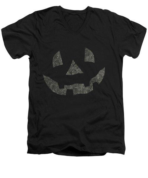 Vintage Pumpkin Face Men's V-Neck T-Shirt