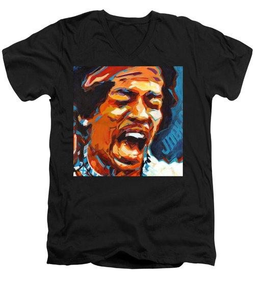 Voodoo Child - Jimi Hendrix In 1969 Men's V-Neck T-Shirt