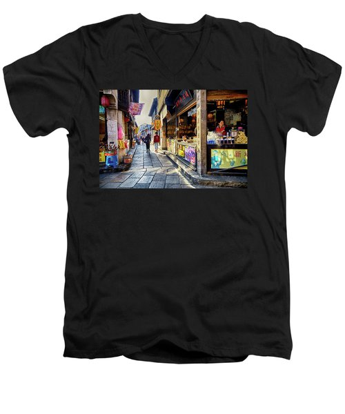 Water Village II Men's V-Neck T-Shirt