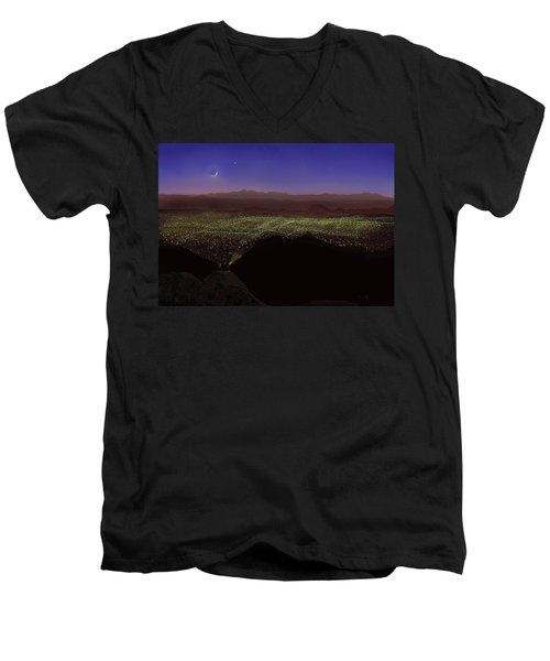 When Tucson's Lights Flicker On Men's V-Neck T-Shirt