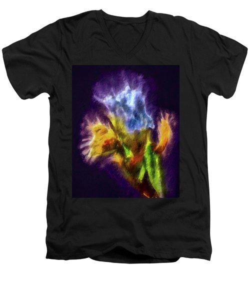 White Lily Bud #i0 Men's V-Neck T-Shirt