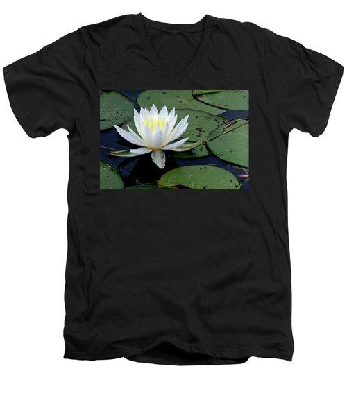 White Water Lilly Men's V-Neck T-Shirt