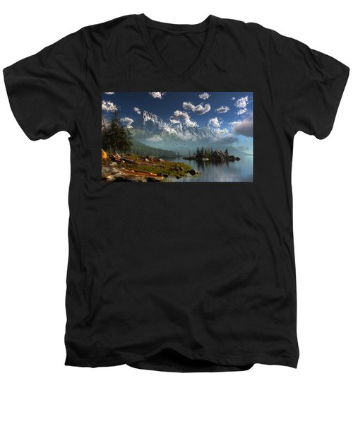 Window Through The Mist Men's V-Neck T-Shirt