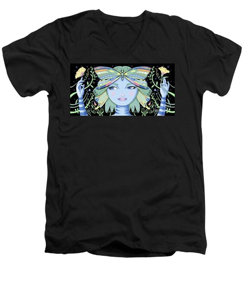Insect Girl, Winga - Black Men's V-Neck T-Shirt