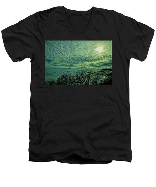 Winter Clouds Men's V-Neck T-Shirt