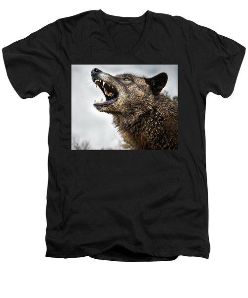 Woof Wolf Men's V-Neck T-Shirt