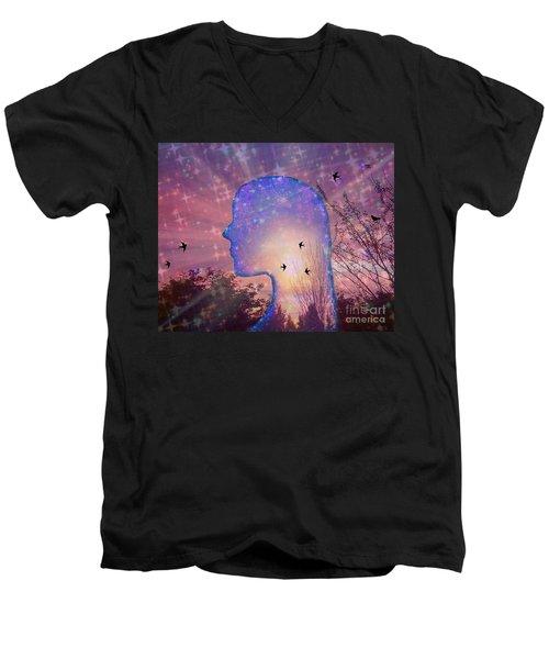 Worlds Within Worlds Men's V-Neck T-Shirt