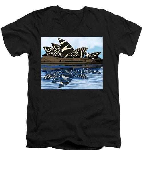 Zebra Opera House 4 Men's V-Neck T-Shirt