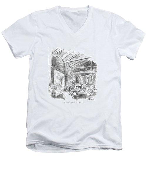 ' . . . Scene 3: Interior Of A Barn.' Men's V-Neck T-Shirt