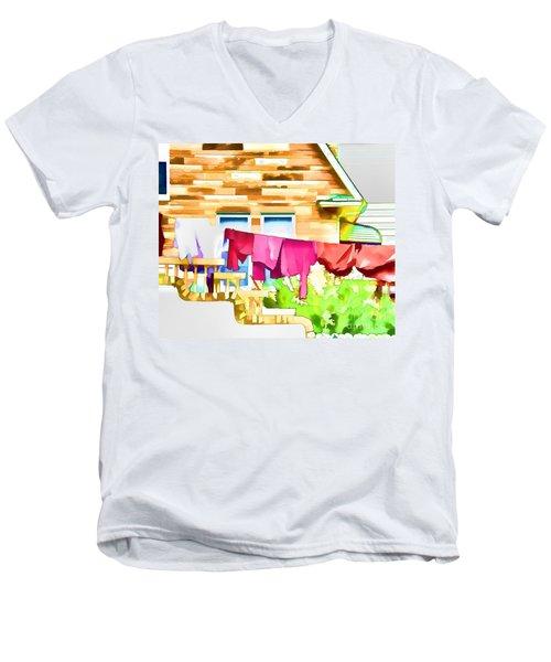 A Summer's Day - Digital Art Men's V-Neck T-Shirt