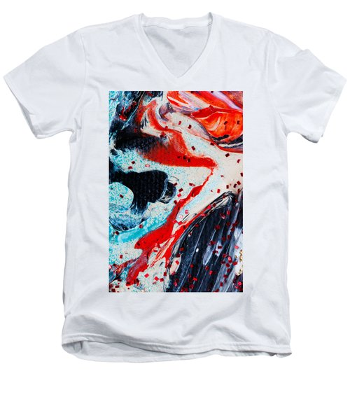 Abstract Original Artwork One Hundred Phoenixes Untitled Number Fifteen Men's V-Neck T-Shirt