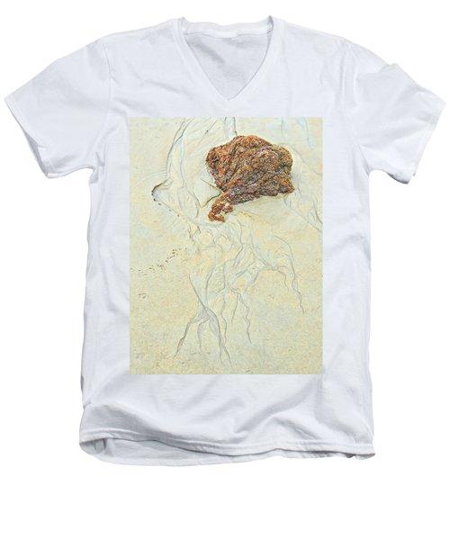 Beach Sand  2 Men's V-Neck T-Shirt by Marcia Lee Jones