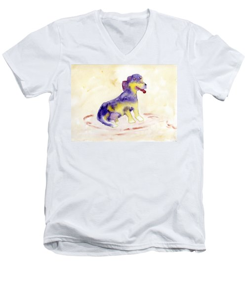 Beagle Bright Men's V-Neck T-Shirt