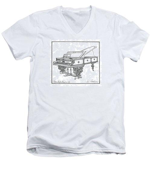 Bosendorfer Centennial Grand Piano Men's V-Neck T-Shirt by Ira Shander