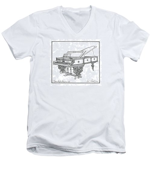 Bosendorfer Centennial Grand Piano Men's V-Neck T-Shirt