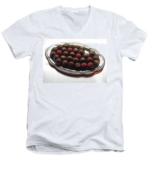 Chocolates Men's V-Neck T-Shirt