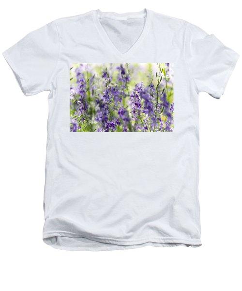 Fields Of Lavender  Men's V-Neck T-Shirt by Saija  Lehtonen