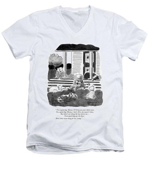 'i'm A Good Dog Men's V-Neck T-Shirt