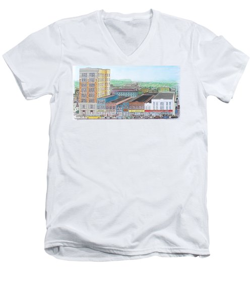 Portsmouth Ohio Dime Store Row 4th To 5th Men's V-Neck T-Shirt