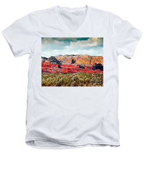 Secret Mountain Wilderness Sedona Arizona Men's V-Neck T-Shirt