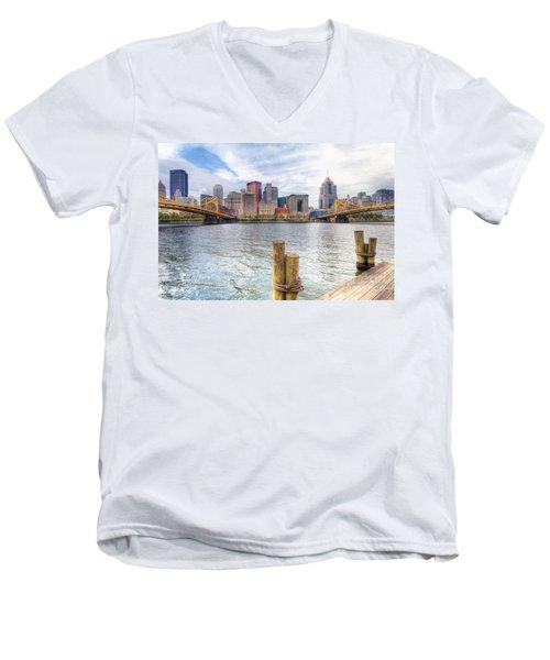 0310 Pittsburgh 3 Men's V-Neck T-Shirt by Steve Sturgill