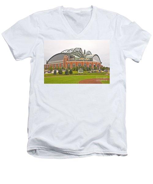 0622 Milwaukee's Miller Park Men's V-Neck T-Shirt by Steve Sturgill