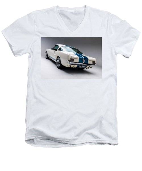 Men's V-Neck T-Shirt featuring the photograph 1966 Mustang Gt350 by Gianfranco Weiss