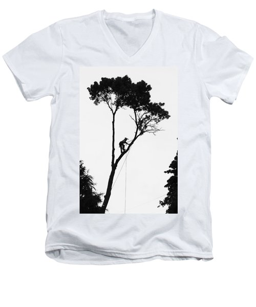 Arborist At Work Men's V-Neck T-Shirt
