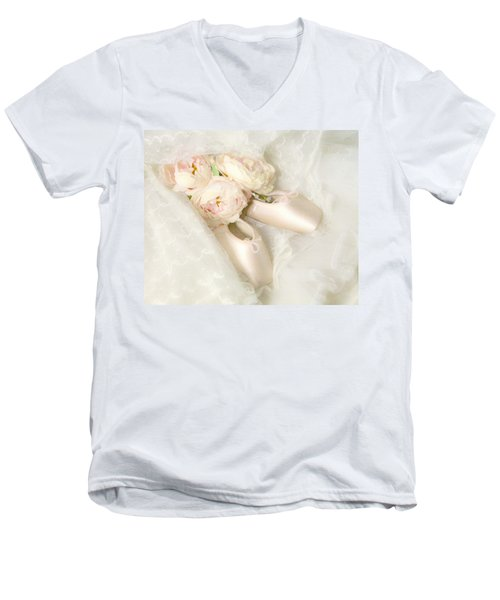 Ballet Shoes Men's V-Neck T-Shirt