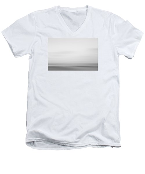 Black And White Abstract Seascape No. 01 Men's V-Neck T-Shirt