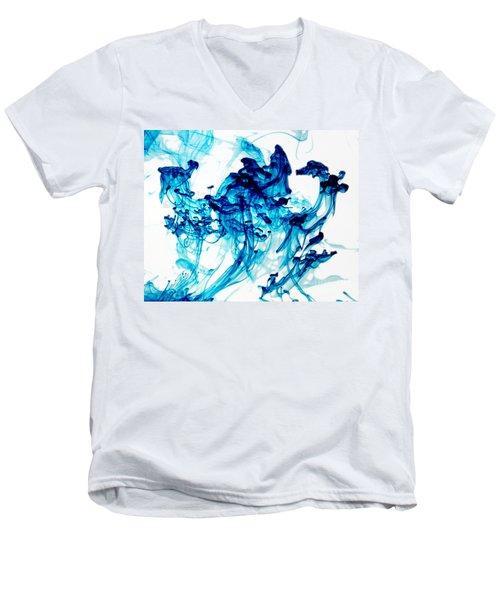 Blue Chaos Men's V-Neck T-Shirt by Liz Masoner
