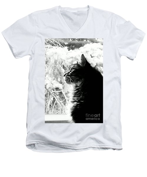 Men's V-Neck T-Shirt featuring the photograph Bo by Jacqueline McReynolds