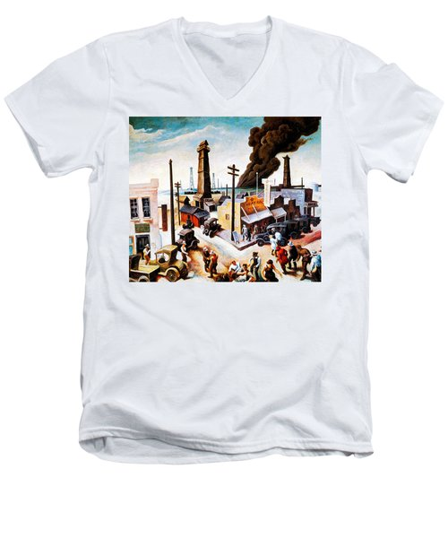 Boomtown Men's V-Neck T-Shirt