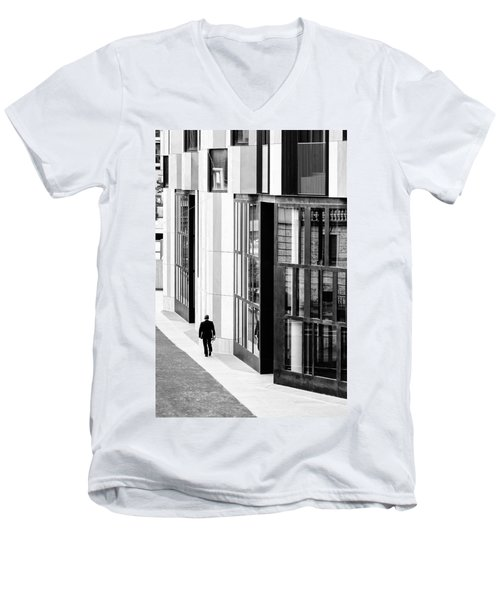 Business Man In Milan Men's V-Neck T-Shirt