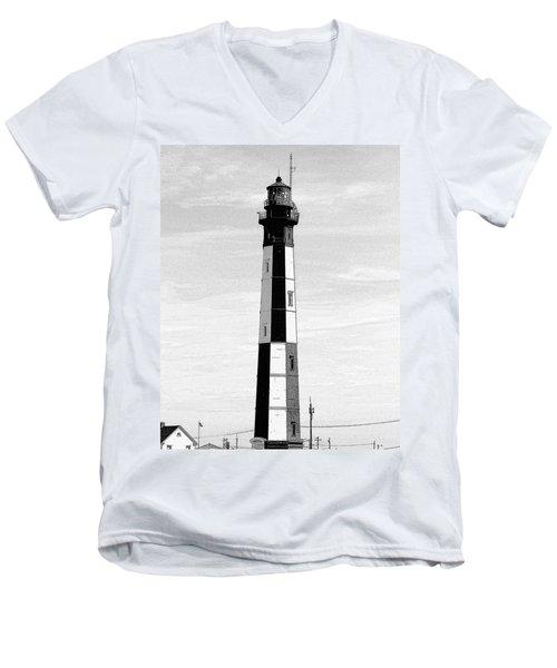 Cape Henry Lighthouse  Men's V-Neck T-Shirt