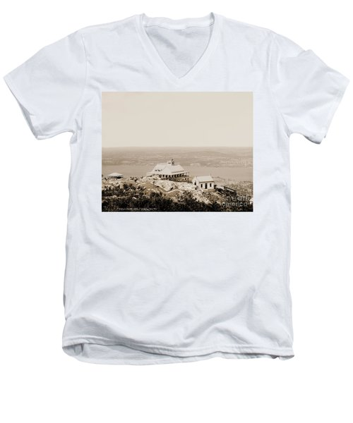 Casino At The Top Of Mt Beacon In Sepia Tone Men's V-Neck T-Shirt