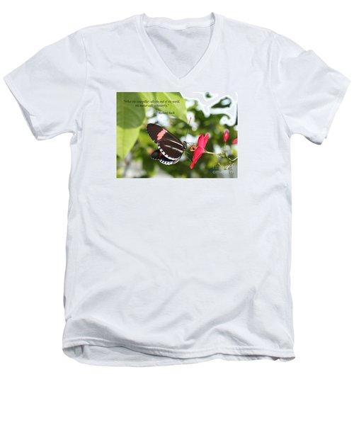 Caterpiller To A Butterfly Men's V-Neck T-Shirt