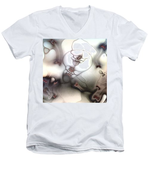 Men's V-Neck T-Shirt featuring the digital art Ceaseless Vicissitude by Casey Kotas