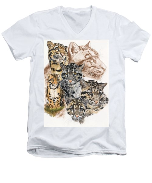 Cloudburst Men's V-Neck T-Shirt by Barbara Keith