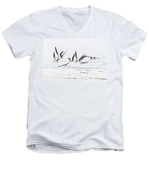 Coastal Skimmers Men's V-Neck T-Shirt
