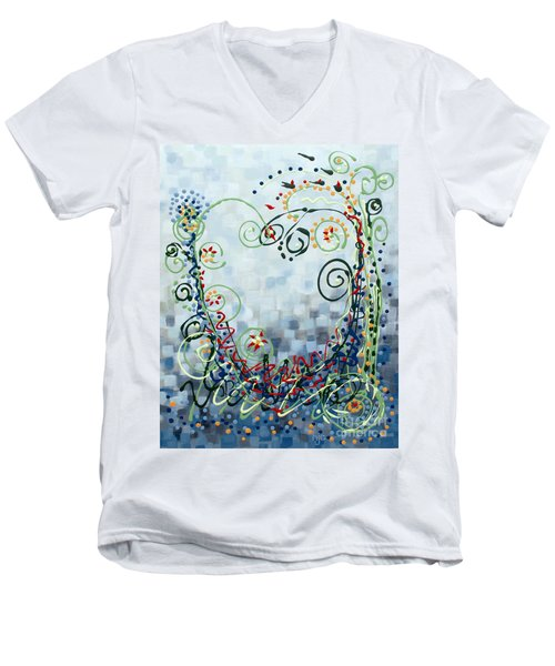 Crazy Love Jazz Men's V-Neck T-Shirt by Holly Carmichael