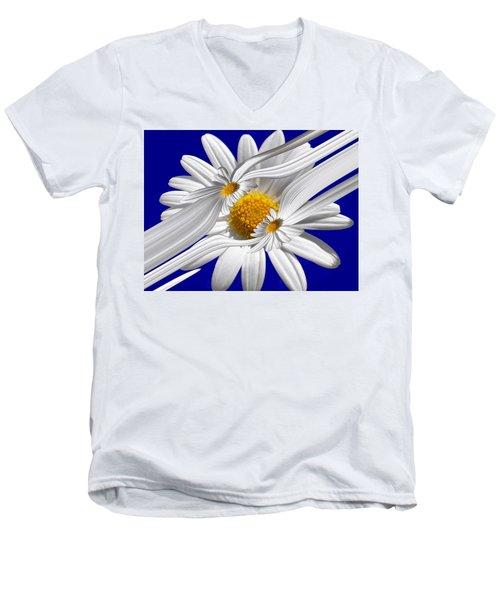 Daisy Delight Men's V-Neck T-Shirt
