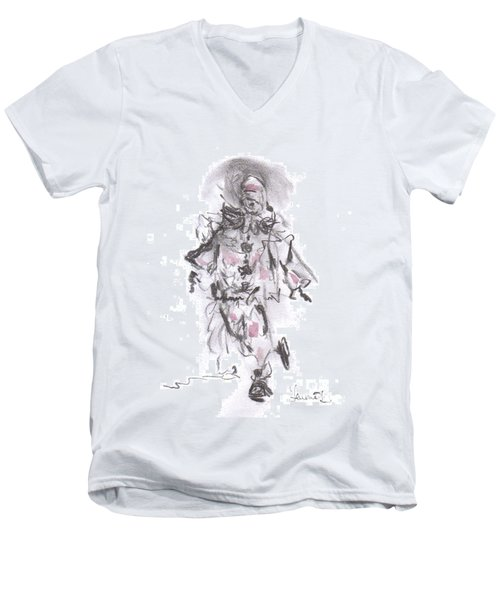 Dancing Clown Men's V-Neck T-Shirt