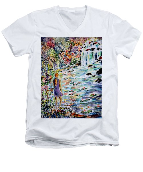 Daughter Of The River Men's V-Neck T-Shirt by Alfred Motzer