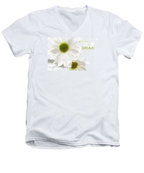 Dreams With Message Men's V-Neck T-Shirt