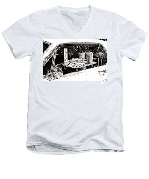 Drive-in Men's V-Neck T-Shirt