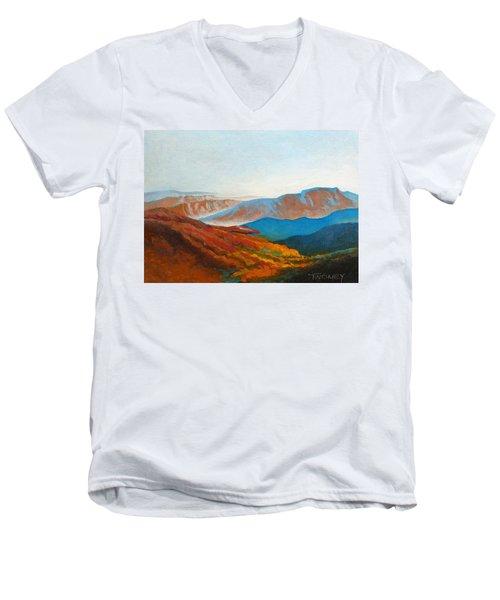 East Fall Blue Ridge Mountains 2 Men's V-Neck T-Shirt