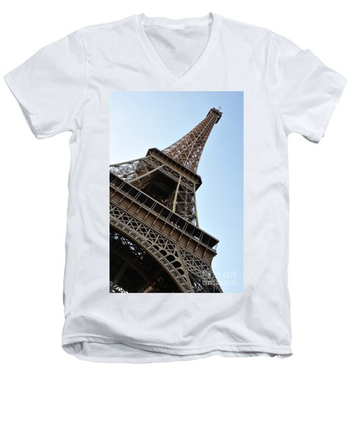 Men's V-Neck T-Shirt featuring the photograph Eiffel Tower by Joe  Ng