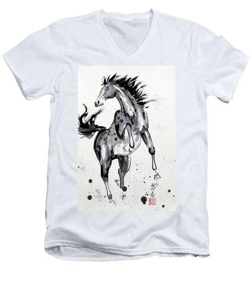 Exuberance Men's V-Neck T-Shirt by Bill Searle
